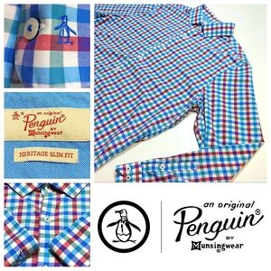 ORIGINAL PENGUIN 🐧 Heritage Slim Fit Dress Shirt